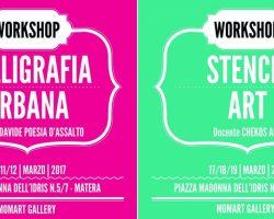 Workshop di stencil e di calligrafia urbana
